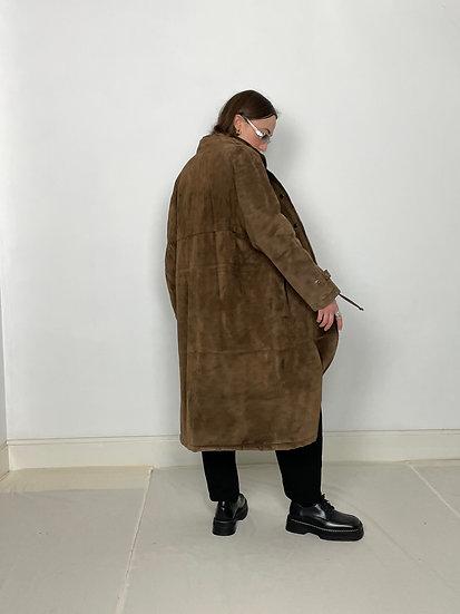 Real Suede Faux fur lined Parka
