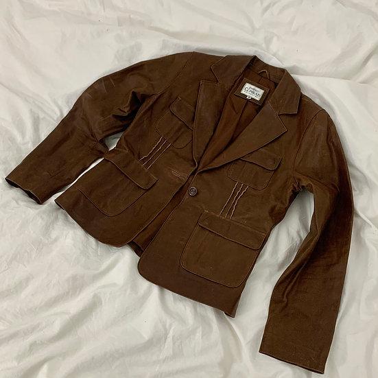 Real Leather Blazer