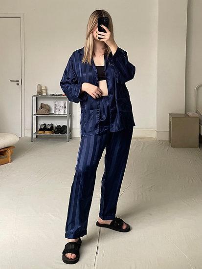 Pure Silk Jacquard Stripe Pyjama set
