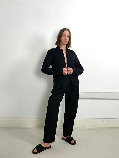 Jil Sander Relaxed Wool Cashmere Blazer with Stretch