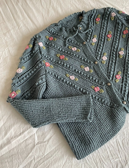 Embroidered Austrian Bobble Knit cardigan