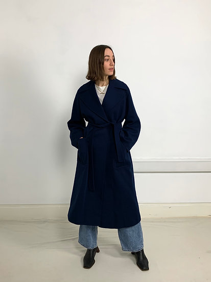 Soft Belted Wool Cashmere Coat