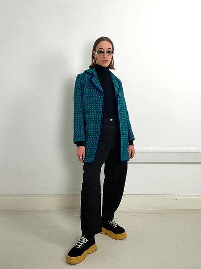 Welsh Wool Jacquard Coat