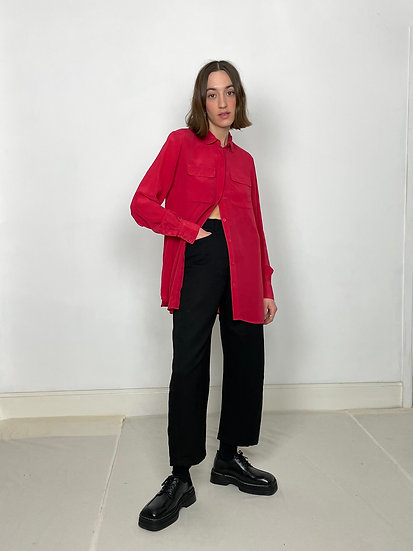 Pure Silk Utility Shirt