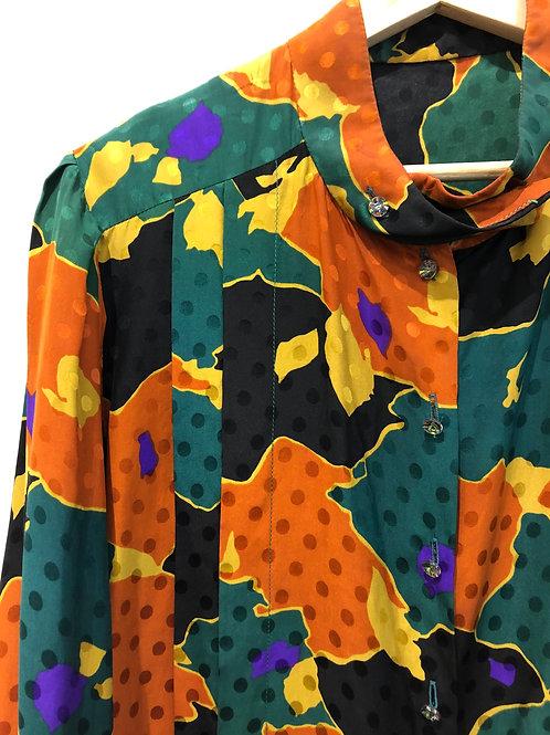 Geo print blouse