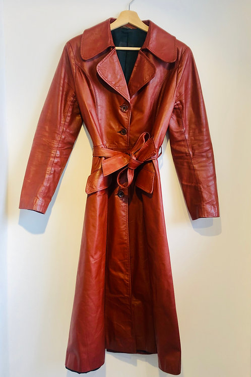 Real Leather 70s Trench