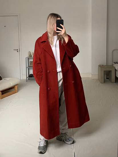Oversized Wool with Mohair Coat