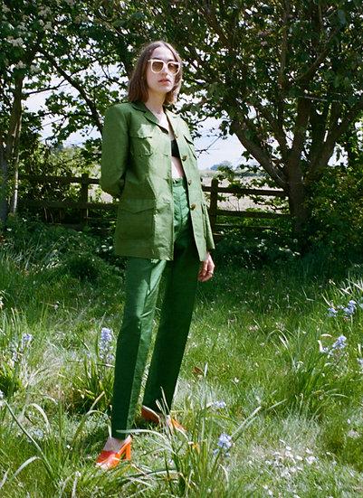 Pure Silk Trouser Suit - size 8