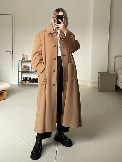 Jaeger Wool Cashmere longline swing coat