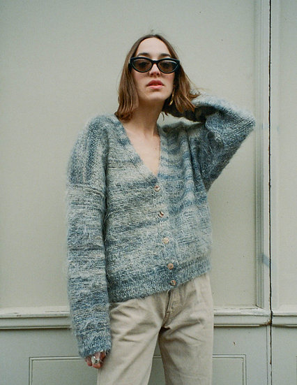 Mohair Brushed Relaxed Fit Cozy Cardigan