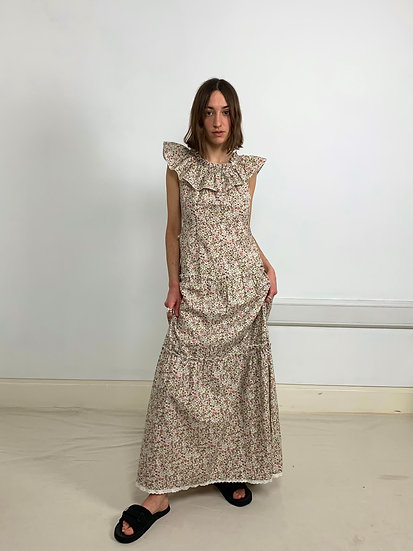 Ditsy Floral Cotton Maxi Dress