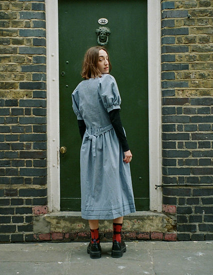 Cotton Midi Prairie Dress