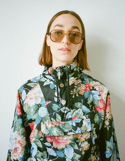 Printed Floral Half Zip Padded Jacket