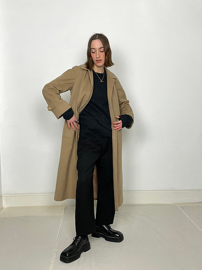 Aquascutum Wool Cashmere Belted Coat