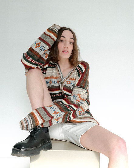 Missoni Sport Knitted varigated Stripe Cardigan