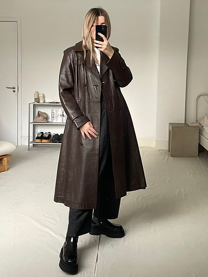 Real Leather Trench