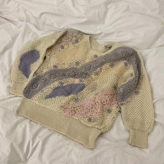 Oversized Mohair Crochet Knit