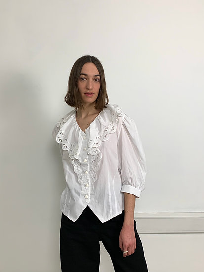 Exaggered Collar Blouse