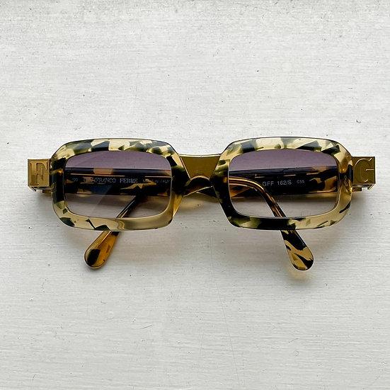 Vintage Tortoise Shell & Gold Gianfranco Ferre Sunlasses