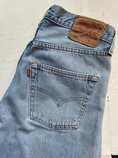 """Levis 501 Pale Stone Wash Jeans - Waist 28/29"""""""