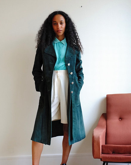 Real Suede Trench