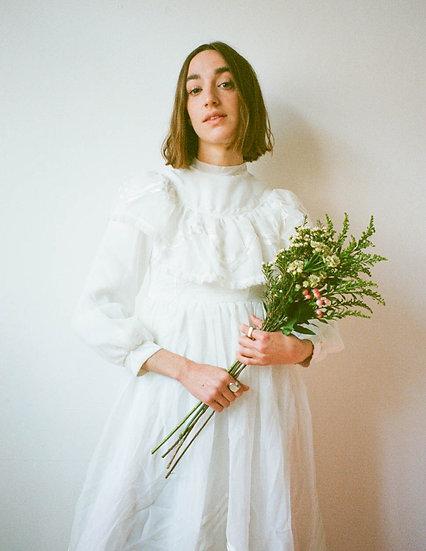 Ribbon Applique Chiffon Lace trim Dress