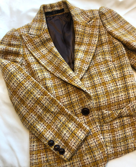 Pure Wool Check Blazer