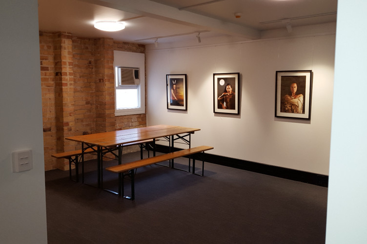 First images hung today!