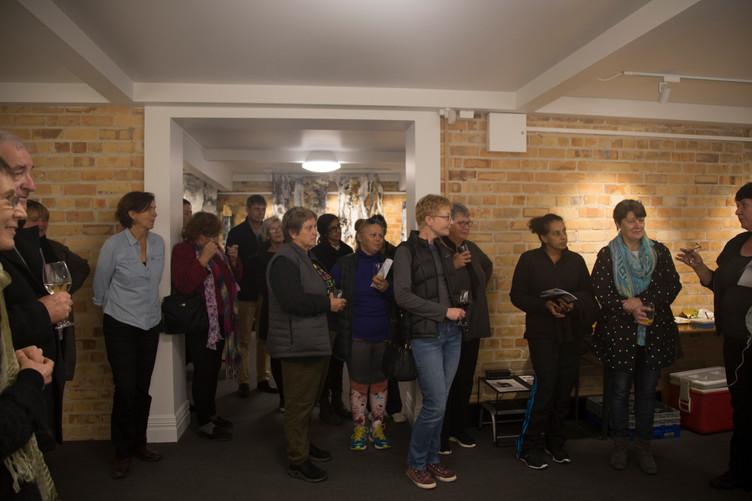 Gathering and Artist Talks by Carol Bisset and Justina Groeber at Points of Departure exhibition.