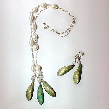 Rhododendron Leaf 3 Piece Necklace