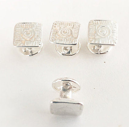 Historic Brick Square Tuxedo Stud Set