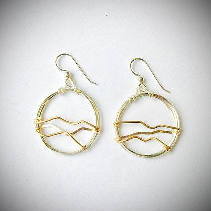 Blue Ridge Skyline Earrings
