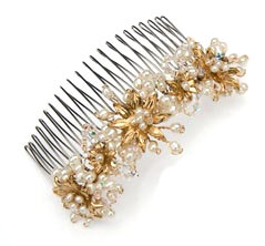 "Alternating Blossom 4"" Comb"