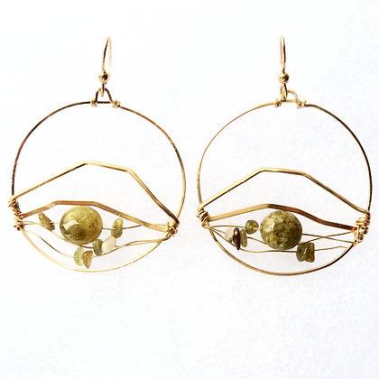 House Mountain Hoop Earrings