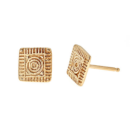 Lexington Brick Square Earrings