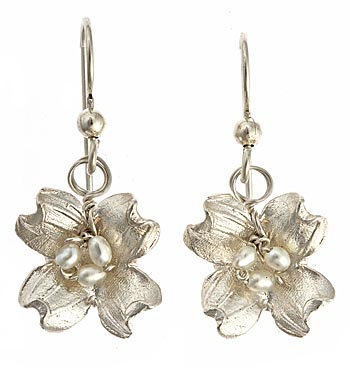 Dogwood Metal Earrings