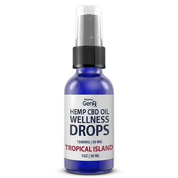 Wellness Drops 1500MG - Tropical Island