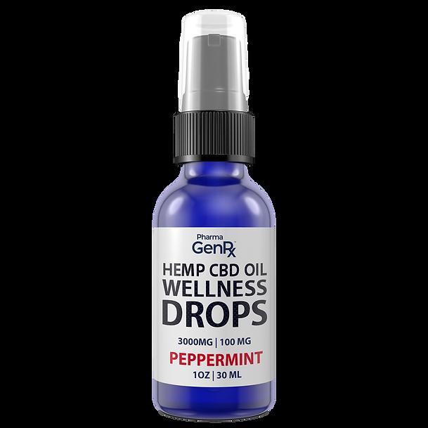 hemp cbd oil wellness drops peppermint 3