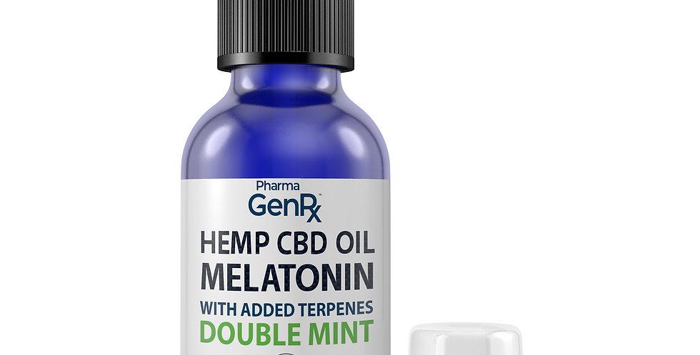 Hemp CBD Oil with Melatonin with added Terpenes - Double Mint