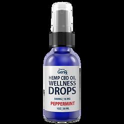 Hemp CBD Oil Wellness Drops Peppermint.p