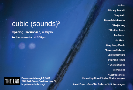 Cubic Sounds at The Lab Art Space