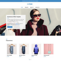 Pixie is an ecommerce HTML