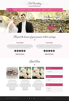 Wedding website WordPress theme