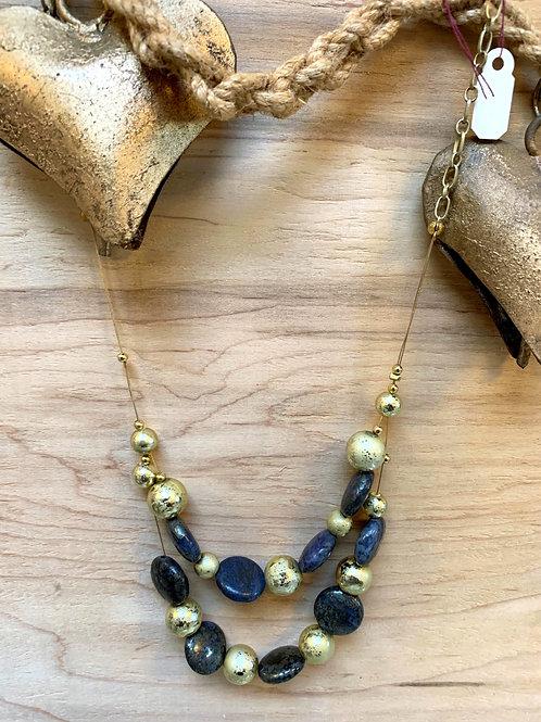 Afghan lapiz lazuli sapphire necklace