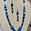 Thumbnail: Navy blue hand orned beads & crystals necklace and earrings