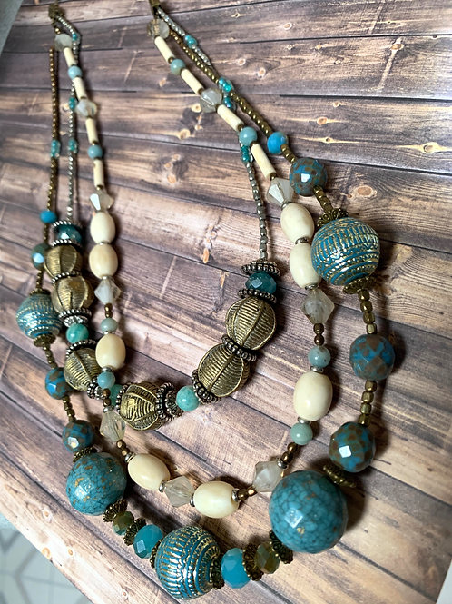 3 layers African Necklace