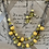 Thumbnail: Yellow acrylics beads and silver necklace set