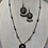 Thumbnail: Light blur Roman ancient beads necklace and earrings