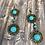 Thumbnail: Blue turquoise color earrings