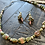 Thumbnail: Unakite tumbled stone green/pink necklace & earrings